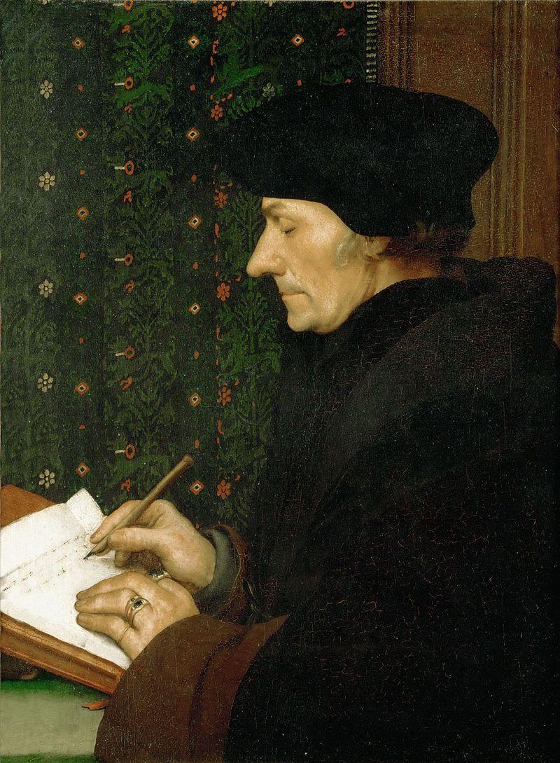 Erasmus af Rotterdam, en af det 16.århundredes helt store bannerførere for humanismen i Nordeuropa. Kilde: Wikipedia